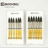ESCODA 短杆椭圆峰松鼠毛画笔 5909