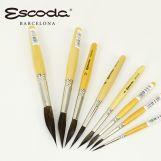 ESCODA 短杆斜圆尖峰松鼠毛画笔 5707